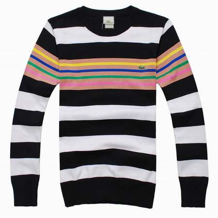 pull pull Pull Pas A Homme Fashion Lacoste Cher Rayure Brit E9D2HI
